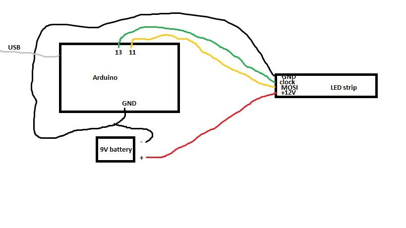 arduino 4x4x4 led cube schematic  arduino  free engine